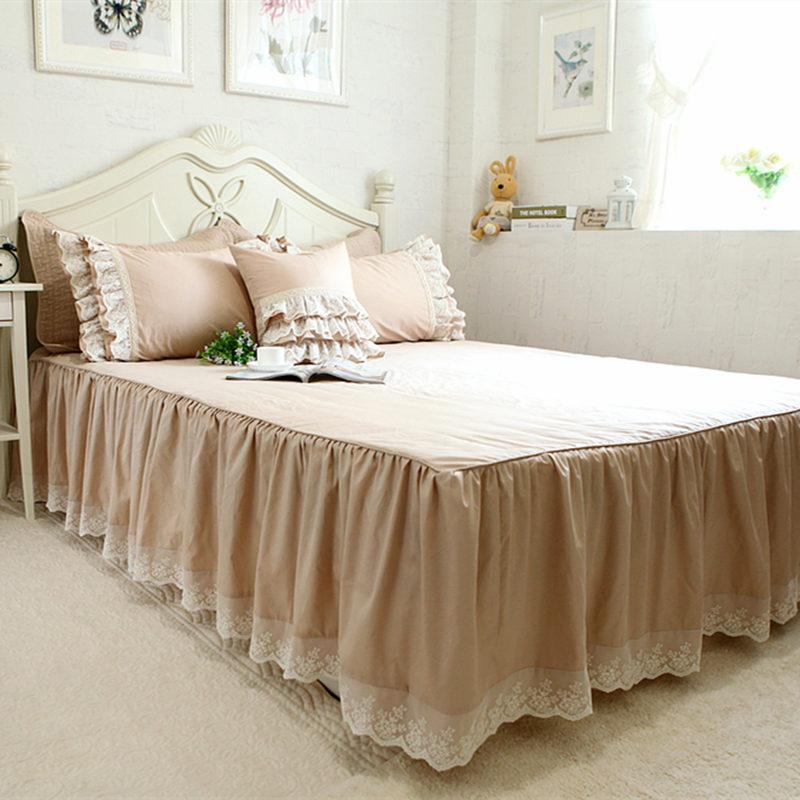 Delightful Top Luxury Bed Skirt Romantic Lace Bedspread Elegant Bedspreads Bed Sheet  Set For Wedding Decorative Princess Room Bedding Sale Bed Skirt Luxury Bed  Skirts ...