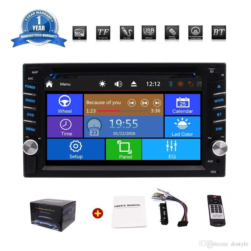 "double 2din stereo car dvd cd player 6 2 hd digital touchscreen cardouble 2din stereo car dvd cd player 6 2"" hd digital touchscreen car radio 1080p video bluetooth subwoofer usb sd swc back camera"