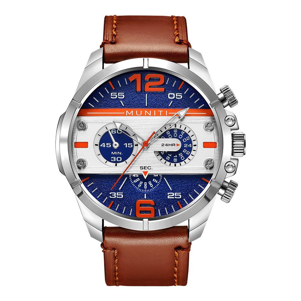 0f719bbd460e Compre Marca De Lujo Hombres Reloj De Cuarzo Luminoso Hombres Cara Grande  Correa De Cuero De Deporte De Moda Relojes De Pulsera Relogio Masculino  Envío ...