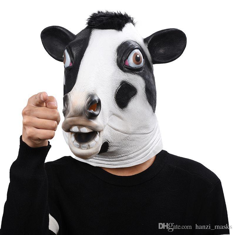 Acquista Maschera Di Lattice Di Mucca Di Halloween Di Hanzi masks Novità Maschere  Di Animali In Maschera A  12.94 Dal Hanzi masks  a3639d64eae2