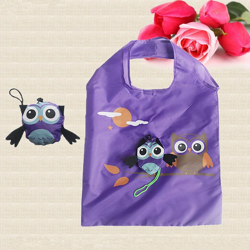 Heiße nette Tiereule-Form-faltende Einkaufstasche Eco freundliche Damen-Geschenk-faltbare wiederverwendbare Einkaufstasche-tragbare Reise-Umhängetasche