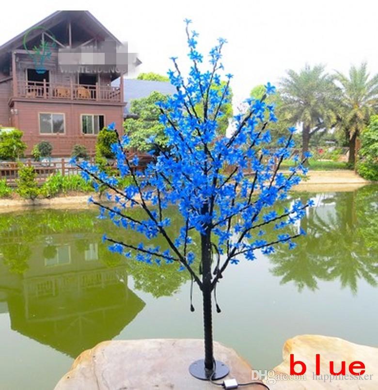 Рождество привело вишневый цвет дерево свет 480 шт. светодиодные лампы 1.5 м высота 110/220 В 7 цветов для варианта непромокаемый открытый использование