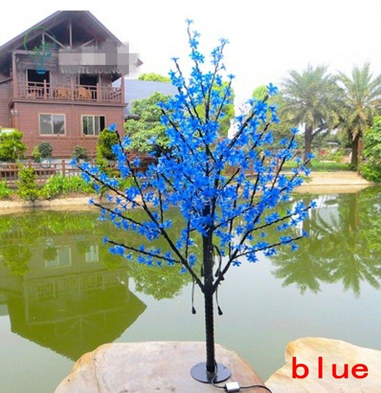 Weihnachten LED-Kirschblüten-Baum-Licht LED Birnen 1,5 m Höhe 110 / 220V 7 Farben für Option Regenschutz Außenanwendung