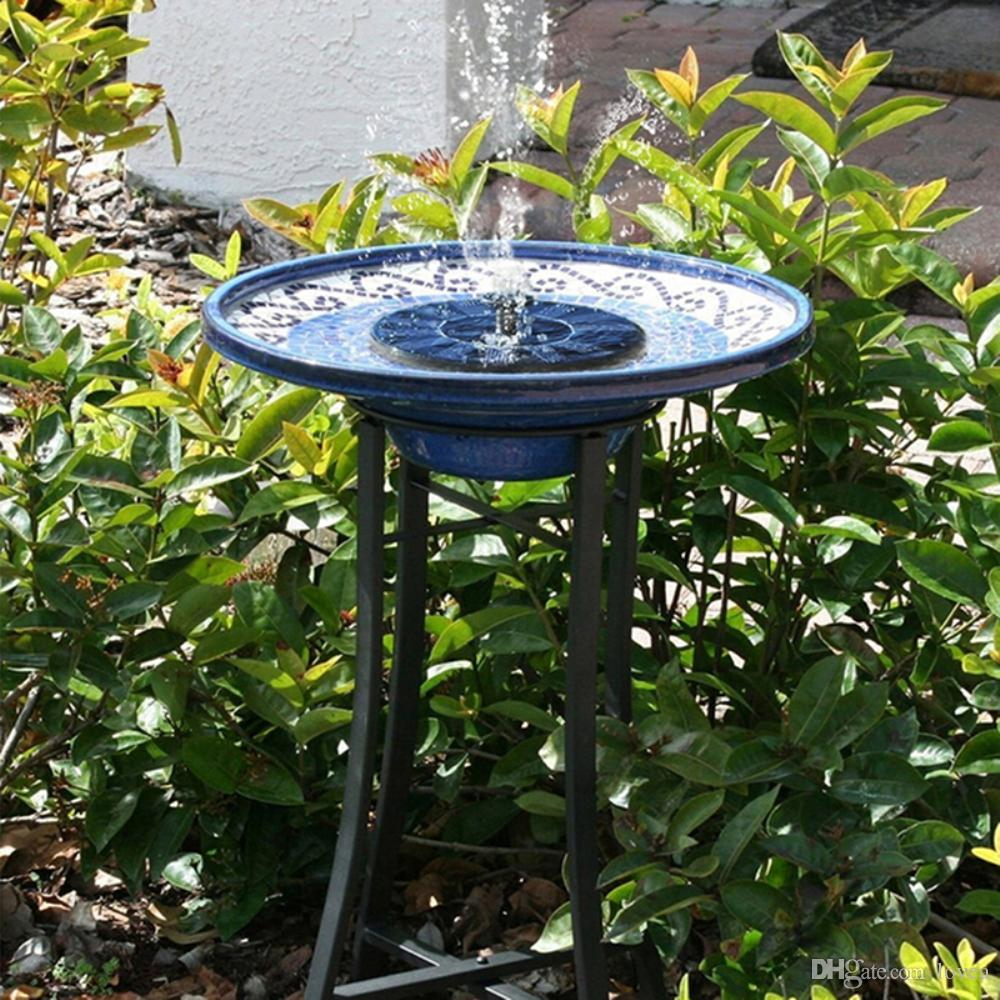 Etonnant 2018 Solar Power Bird Bath Fountain Water Floating Small Garden Patio  Decoration Hot 4 Different Spray Heads For Bird Bath, Fish Tank, Small Pond  From Lovea ...