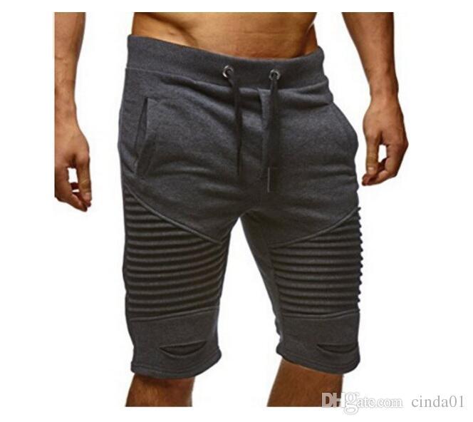 Plus La Taille M-3XL Hommes Joggers Mâle Sarouel Pantalon Casual Genou Longueur Vêtements De Sport Vêtements Pantalons Court Sweatpants