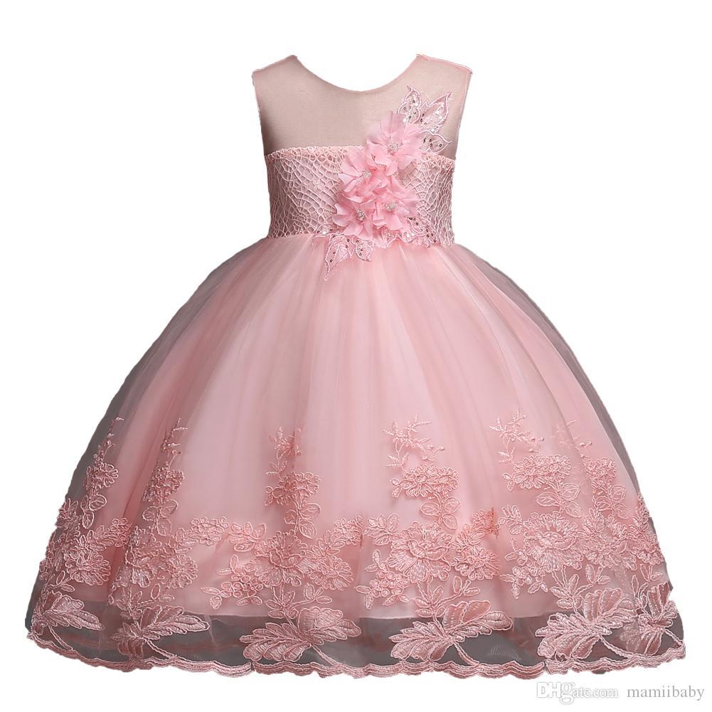 1e5d4fa33c0e 2019 Ragazze vestono estate nuovi bambini abbigliamento per ...