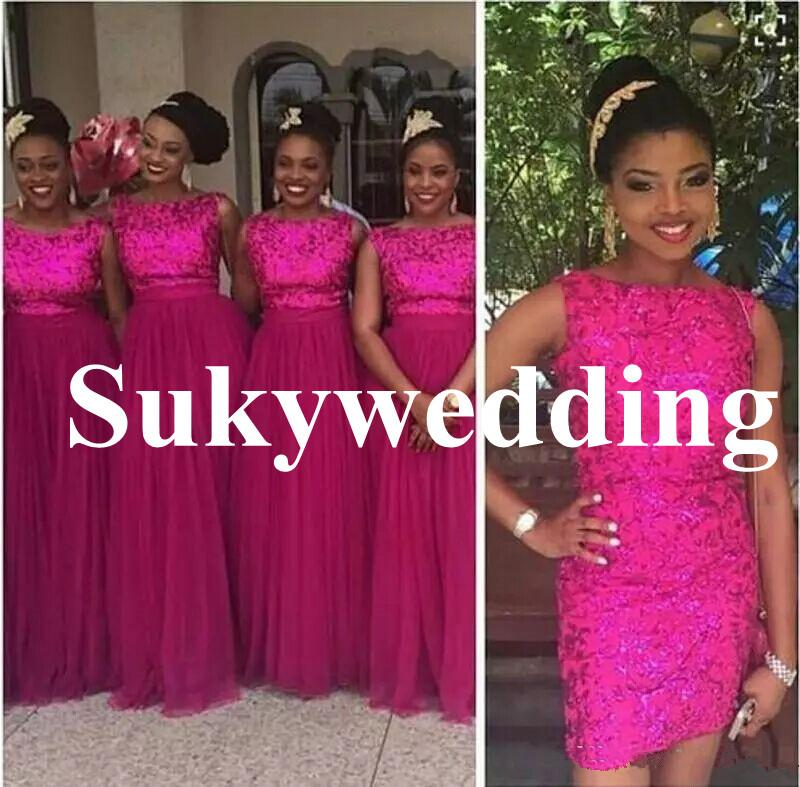 Full Sequined Two Piece Bridesmaid Dresses With Detachable Skirt Scoop Sheath Maid Of Honor Dresses Plus Size Wedding Formal Party Wear