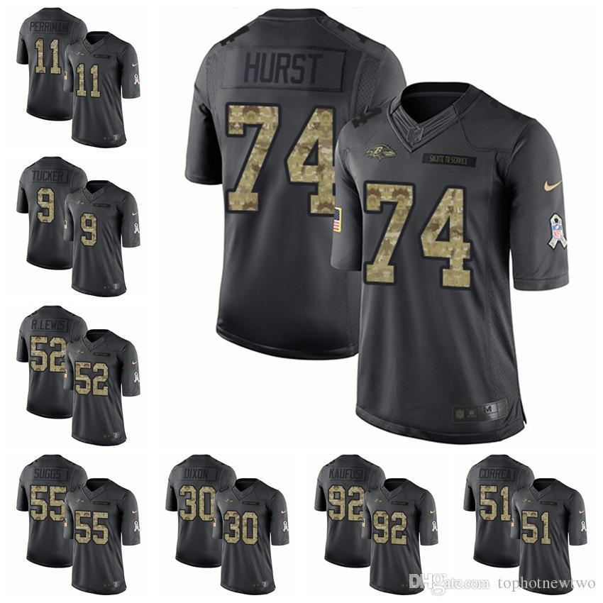 2018 Baltimore Limited Football Jersey Ravens Black 2016 Salute To Service  9 Justin Tucker 5 Joe Flacco 57 C.J. Mosley 1 From Ptbunion4 1bb8978d7