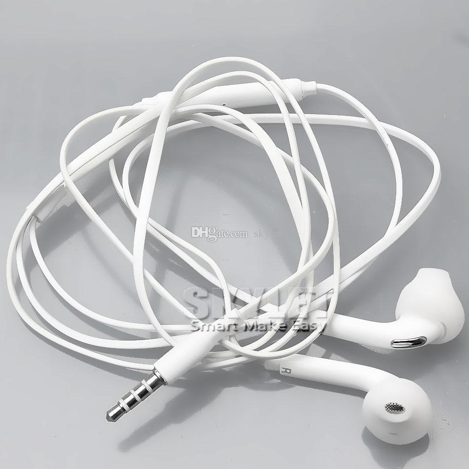 Para samsung galaxy s6 fones de ouvido fones de ouvido fones de ouvido para iphone 6 6 s fones de ouvido no ouvido com controle de volume do microfone 3.5mm com pacote de varejo