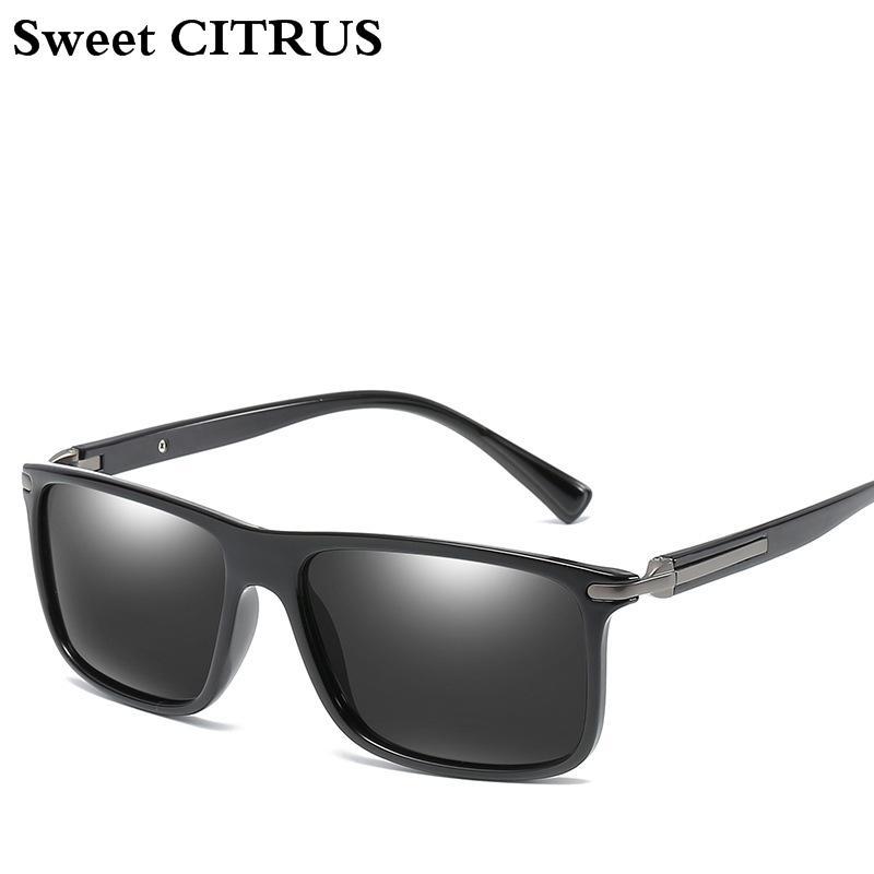 ae7842ecbe Sweet CITRUS Vintage Polarized HD Lens Brand Sunglasses Men Square Eyewear  Accessories Sun Glasses For Male Colorful Sunglass Glasses Online Polarized  ...