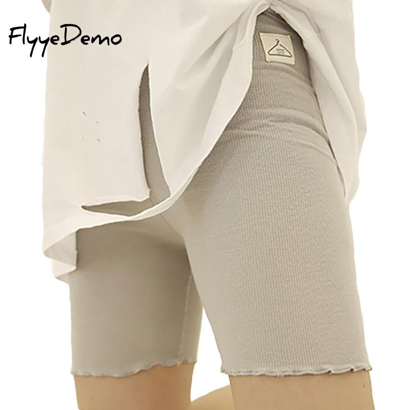 cfa70a52586765 2019 2018 Hot Sale Knee Length Summer Autumn Short Leggings Under Skirts  For Women Pure Cotton Elastic Women Underpants From Beltloop, $39.18 |  DHgate.Com
