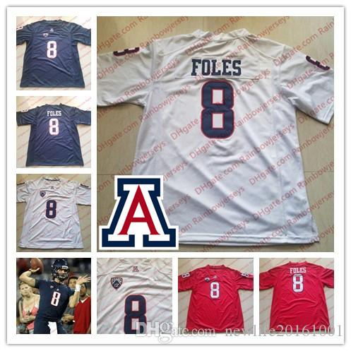 ef6ef456a63 Custom NCAA Arizona Wildcats #8 Nick Foles 11 K'hari Lane 14 Khalil Tate  Any Name Number College Football Jerseys Navy Blue Red White S-4XL