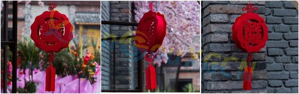 3D Chinese New Year festive ornaments Lantern Spring pendant party hotel Home christmas Decoration party favor