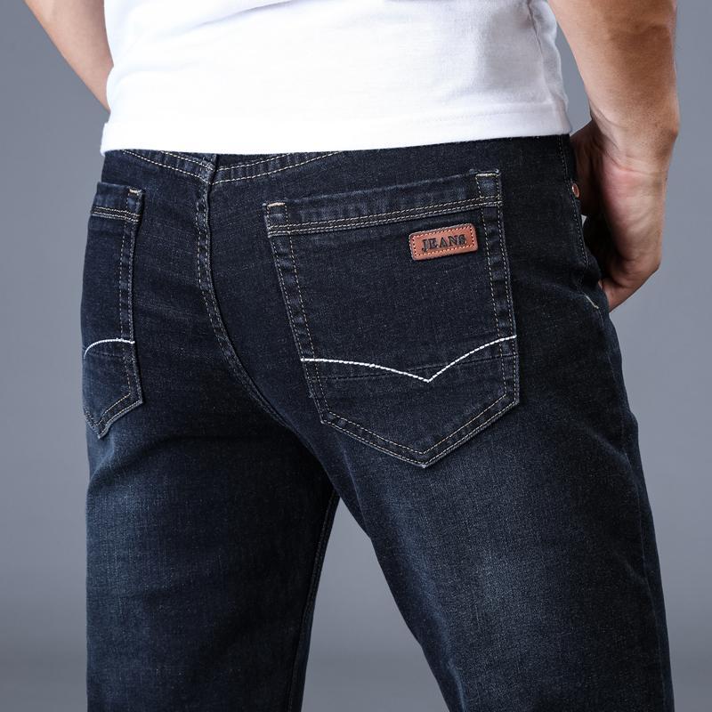 Acheter Hommes Classique Jeans Marque Grande Taille Droite Pantalon Homme  Jean Slim Distressed Design Biker Pantalon Fit Pas Cher Noir Régulier De   44.61 Du ... 808178fe2271