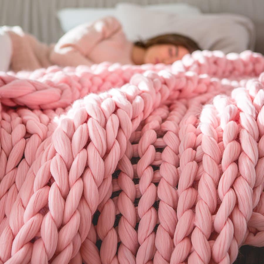 2019 2018 New Chunky Knit Blanket Yarn Super Soft Bulk Roving Merino