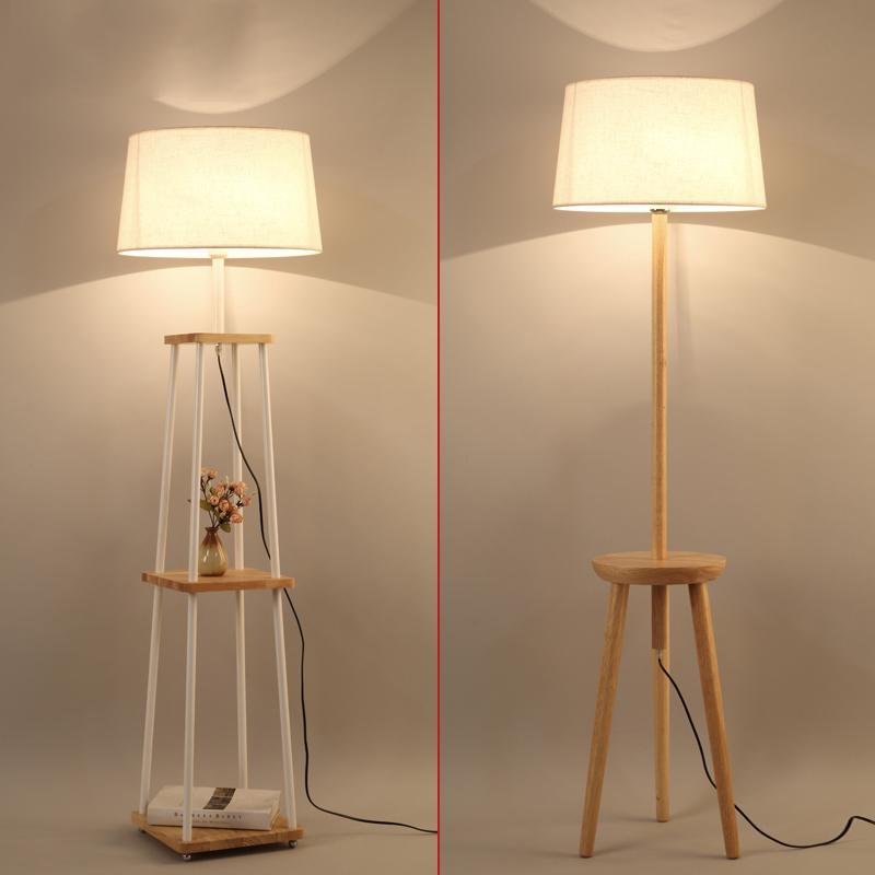 gro handel nordic holz stehlampe led e27 wohnzimmer. Black Bedroom Furniture Sets. Home Design Ideas