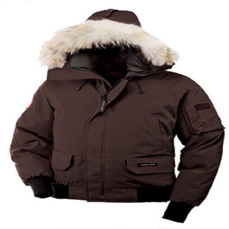 2018 New Winter Brand Canada Men's Goose Down Chilliwack Bomber Hooded Warm Coat Fur Windbreaker man outerwear