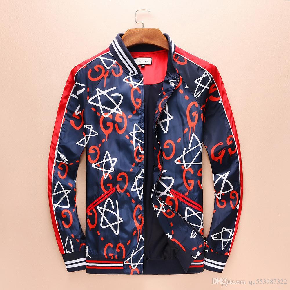 a728cf789 Fashion High Quality GUCCI men Nsportswear Latest Floral Letter Pattern  Zipper Men Casual Jacket Luxury Jacket Men Zipper Luxury Brands Online with  ...