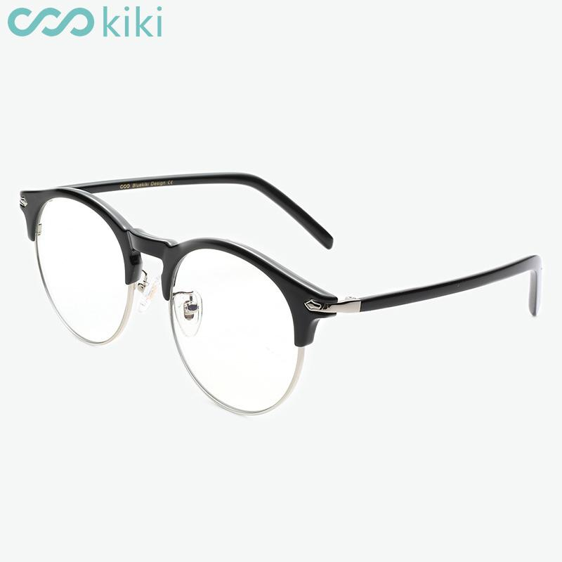717a40ebe7 KIKI Anti Blue Rays Retro Round Glasses Women Men New Eyewear Computer  Radiation Protection Eyeglasses Semi Less Goggles F8606 UK 2019 From Kwind