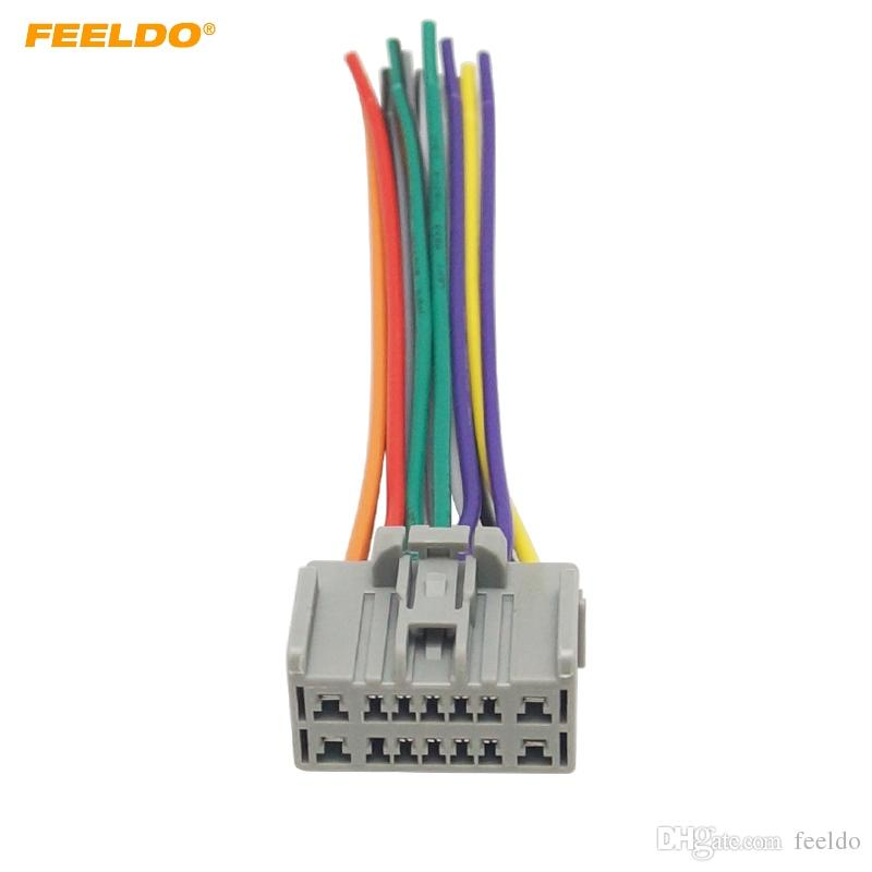 2018 feeldo car cd dvd audio stereo wiring harness adapter for rh dhgate com