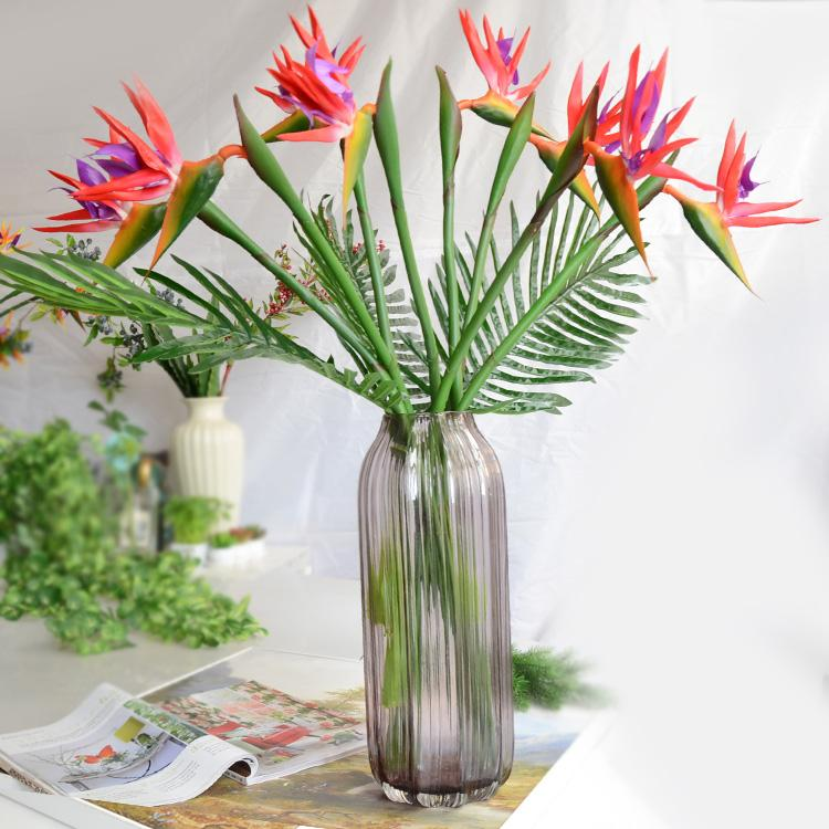 Quality Artificial Plants Feel Paradise Bird Fake Flower Cloth Wedding Living Room Bedroom With Flowers Decoration