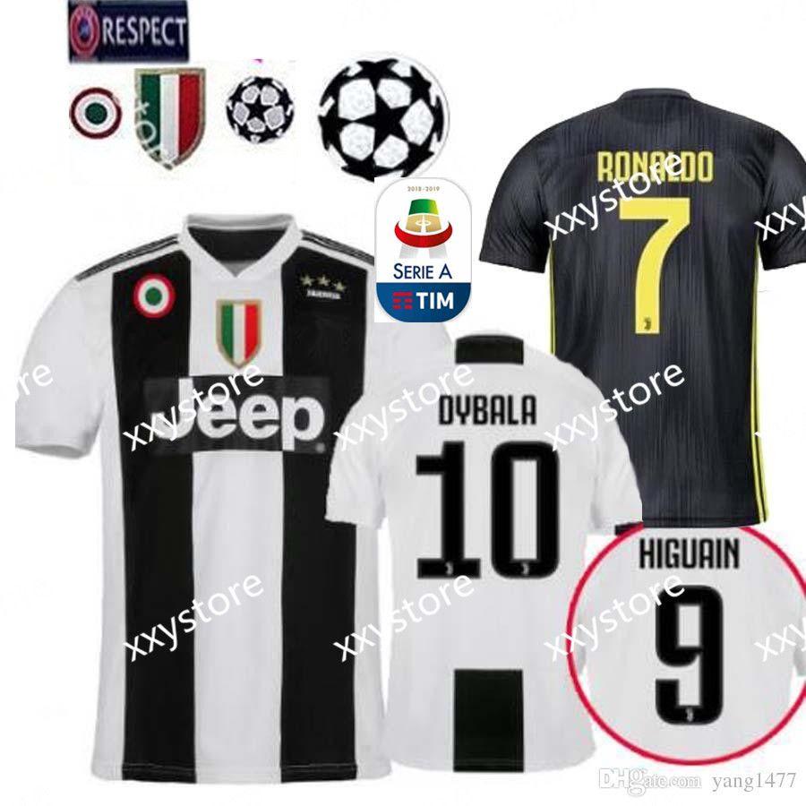 a2b0cd75a 2019 New 18 19 Season RONALDO Top Quality Juventus Home Soccer Jersey 2019  Juve DYBALA MANDZUKIC D.COSTA MARCHISIO BUFFON Third Kit Football From  Xxystore