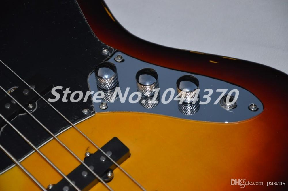EMS Imitation of the old age paragraph 4 String bass Vintage Sunburst electric bass Guitar Best-selling