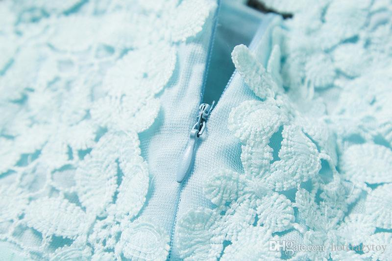 newest Retail Fashion girls Lace Crochet Vest Dress sundress Princess Girls sleeveless crochet vest Lace dress baby party dress kids clothes