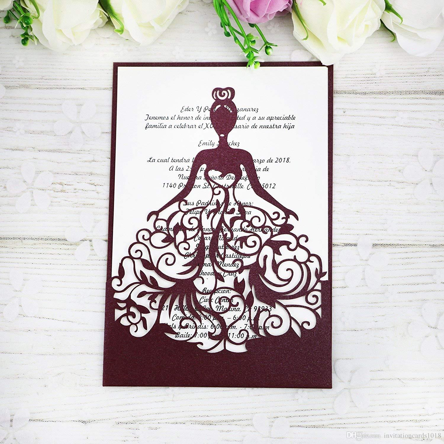 New Lase Cut Crown Princess Invitations Cards For Business Birthday ...