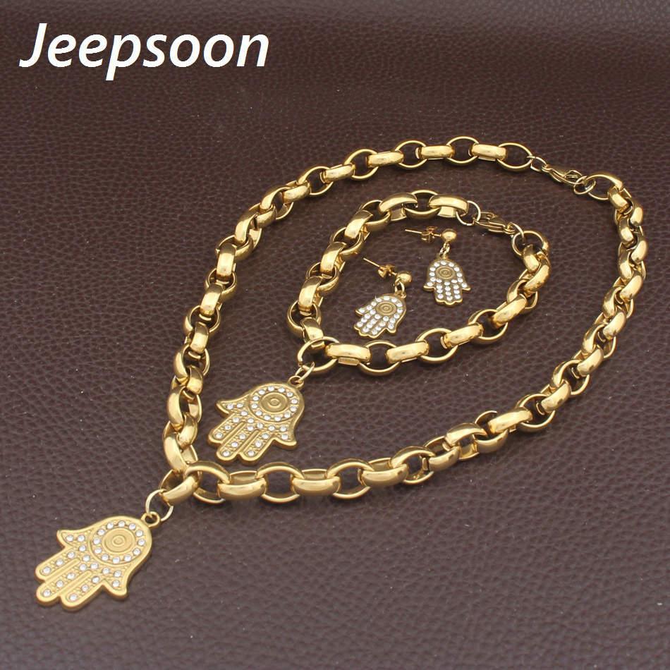 Мода ювелирные изделия из нержавеющей стали рисунок ожерелье браслет серьги набор для женщины SGHHAXDC