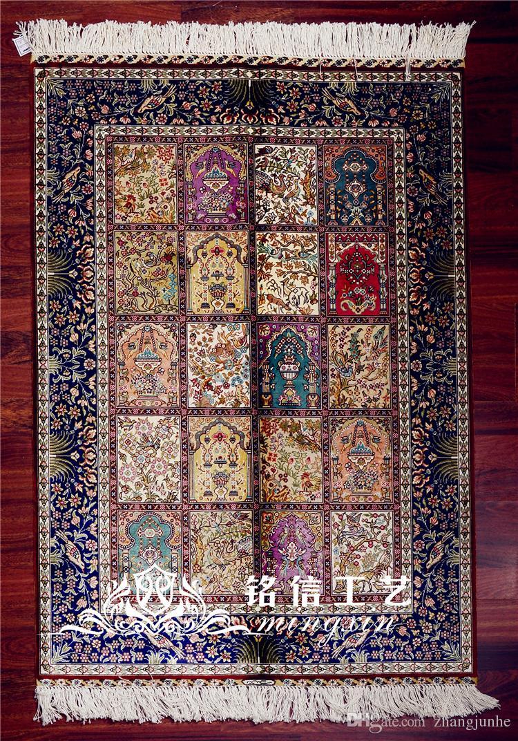 2.7'X4' Persian Four Season Vantage Exquisite Garden Turkish Silk Rug Handmade Silk Carpet Buy Rug Cardog From Zhangjunhe, $1085.43  DHgate.Com