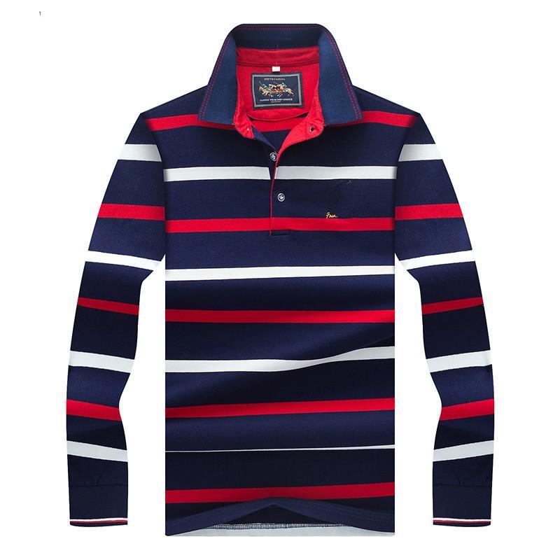 2019 Fashion Horse Logo Polo Shirt Men In Yeson Brand Long Sleeve