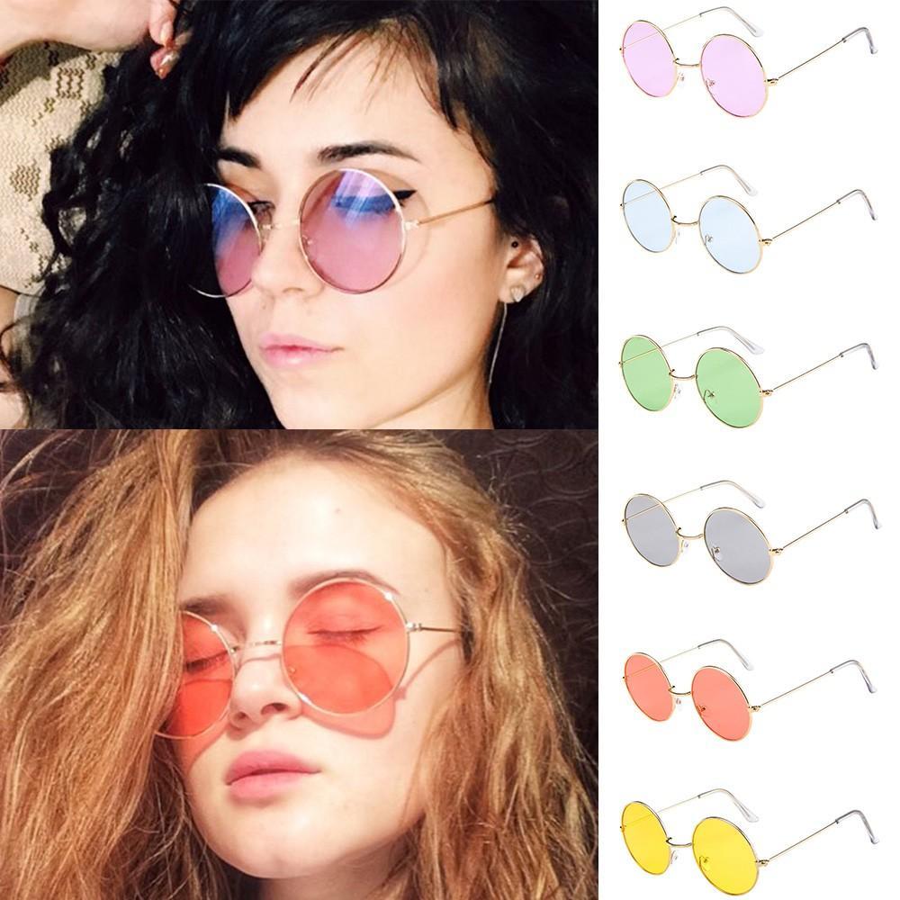 e0242ff09fa Vintage Round Sunglasses Women Ocean Color Lens Mirror Sunglasses Female  Brand Design Metal Frame Circle Glasses Oculos UV400 Wiley X Sunglasses  Mirror ...