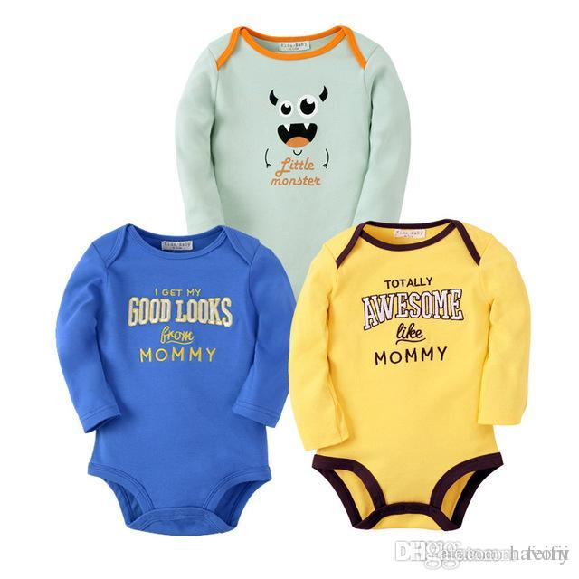 191402056cce8 2019 Fashion Baby Cotton Rompers Baby Boys Clothing Cartoon Pattern Toddler Long  Sleeve Clothes Roupa Infant Jumpsuits Newborn Romper From Havory, ...