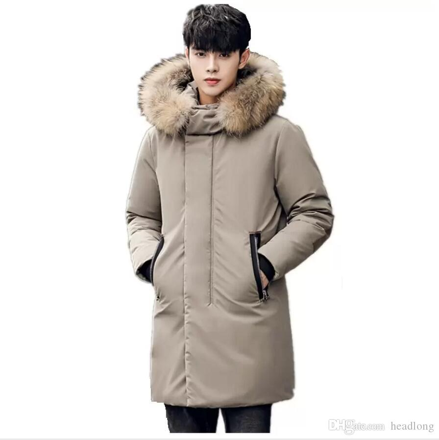 New Arrival Winter Jacket Men Cotton Long Design Thicken Coats Fur collar Male High Quality Fashion Casual Parka Outwear