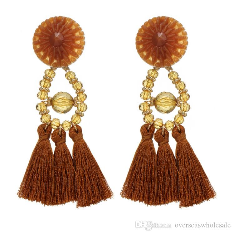 026ab5939 2019 2018 Women Boho Style Drop Dangle Fringe Earring Vintage Ethnic  Statement Tassel Earrings Fashion Jewelry Birthday Christmas Gift From ...