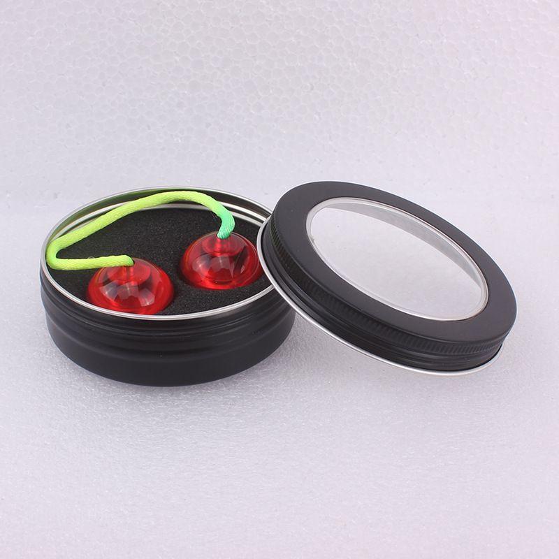 100 g de Jars en aluminium avec Clear Window 100 ml Noir Tin gros Baume à lèvres Pots visibles vides cosmétiques Contenants Jouets Crafts Pots