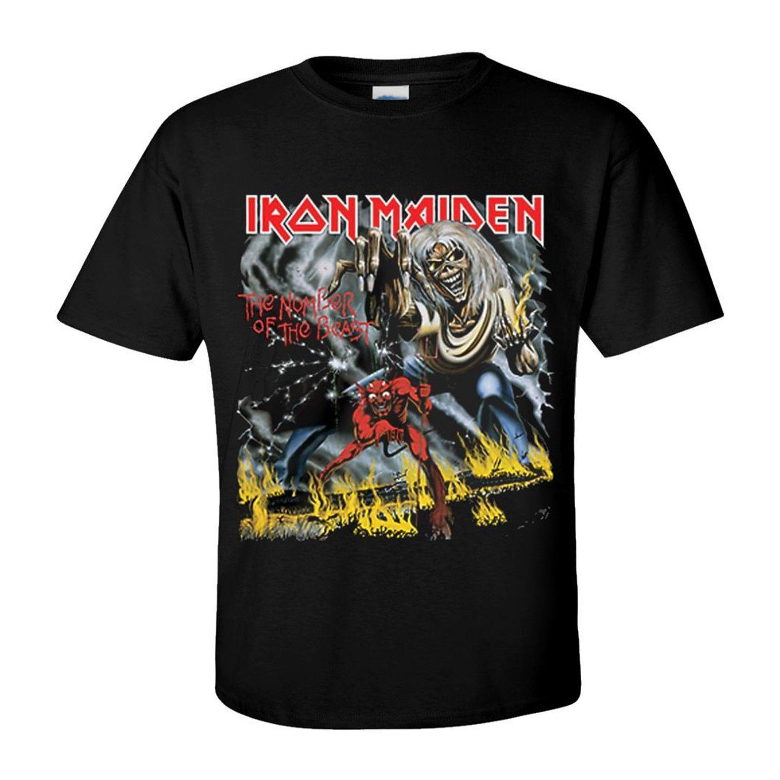 47c46fe39a Iron Maiden Number Of The Beast T Shirt Officiel Homme Rock Groupe De  Musique The Coolest T Shirts T Shirt Shirt Designs From Hiphoptshirt,  $13.19| DHgate.