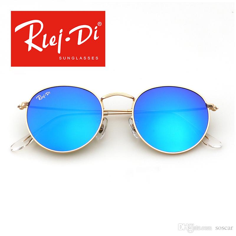 366385419fa Soscar Round Metal Sunglasses for Men Women Vintage Style Brand ...