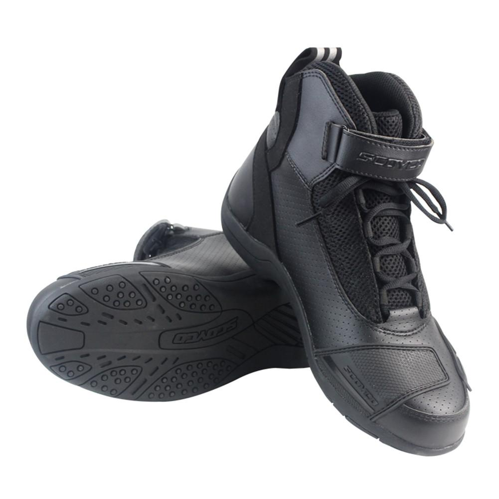 Chaussures Scoyco Moto Bottes Acheter Cuir Racing Mbt015 6vf7ybgY