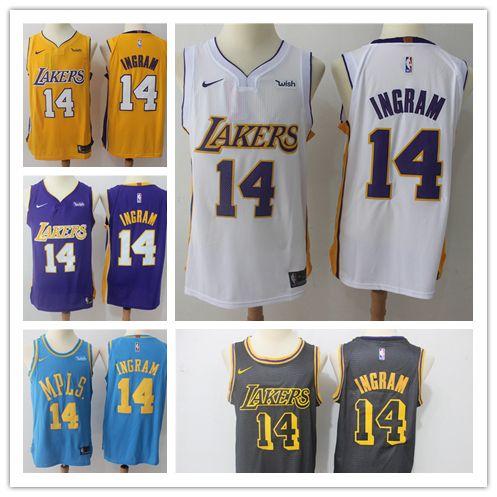 Mens 14 Brandon Ingram Los Angeles Jersey Lakers Basketball Jersey ... 037ad07e9