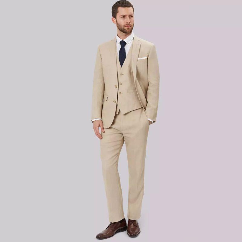 Mariage Piècesveste Homme Party Beige Slim GiletMeilleur Prom Wear 3 Blazer Pantalon Costumes De Marié Hommes Tuxedo Fit OPkZiXuTw