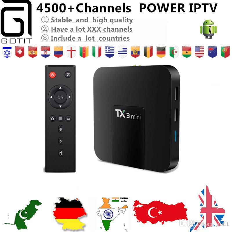 643cf20500d Israel Power IPTV Box TX3 Mini Android 7.1 4 K UHD TV +4500+ Indian Pakistan  Portugal Italy Netherlands Philippines IPTV  VOD Smart TV Box Cheap  Projectors ...