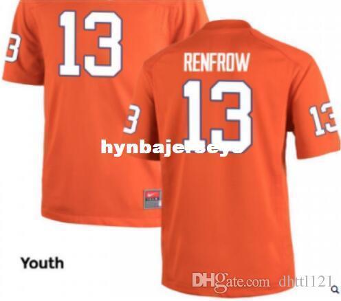 d87c4270d 2018 Cheap YOUTH Hunter Renfrow Clemson Tigers  13 Orange Alumni Jersey  Stitched Football Jerseys From Hynbajerseys