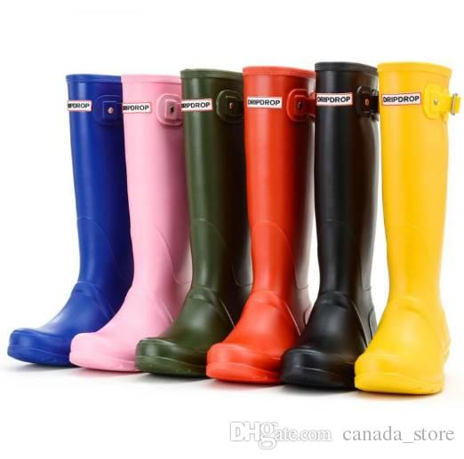 2019 Brand Womens Waterproof Rubber Rain Boots Wellies Wellington Boots 6  Colours From Canada store c5f67014e5