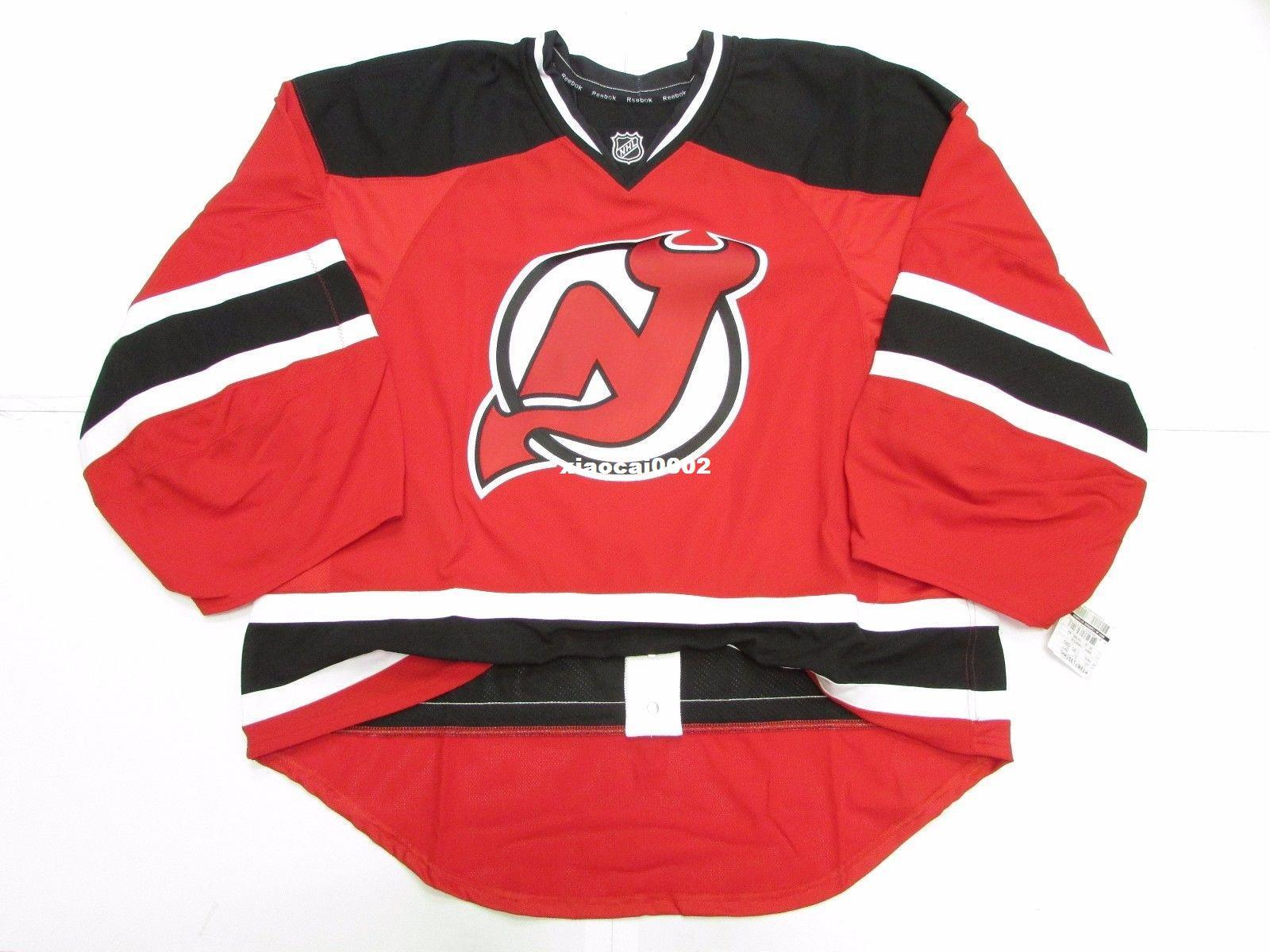 the best attitude 1baab 3f7a0 Cheap Custom NEW JERSEY DEVILS HOME TEAM ISSUED EDGE JERSEY GOALIE CUT 60  Mens Stitched Personalized hockey Jerseys
