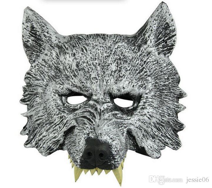 Máscara do partido EVA Dos Desenhos Animados Animal Lobo Tigre Macaco Máscaras Xmas Halloween Fun Adultos Fantasia Acessório das Crianças Completa Máscara Facial
