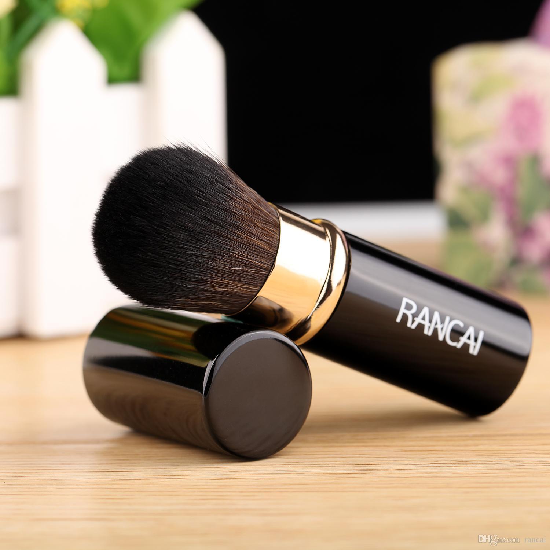 RANCAI 철회 메이크업 브러쉬 파우더 파운데이션 블렌딩 블러쉬 얼굴 가부키 브러시 Maquiagem 화장품 도구 메이크업