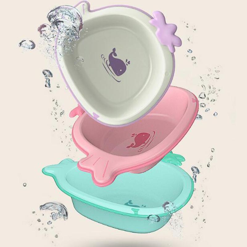 Home Travel Baby Bathtub New Cute Cartoon Antiskid Bathtub Baby ...
