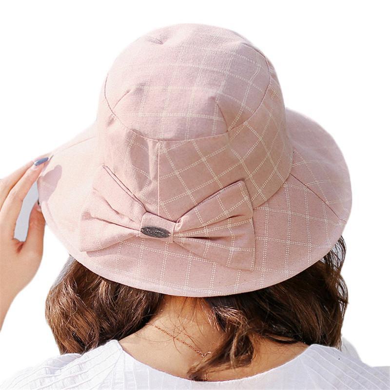 7a8ec85fbf4 Women Summer Sun Hats Spring Bucket Hat Fisherman Panama High Quality Beach  Sunscreen Hats Girl Boonie UV Protection Caps Uv Protection Caps Sunscreen  Hats ...